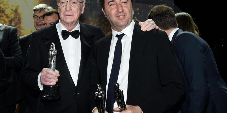 Sir Michael Caine (l.) und Paolo Sorrentino.
