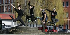 Foto: Alles Bach: Die Flying Steps mit Anna Holmström (links).