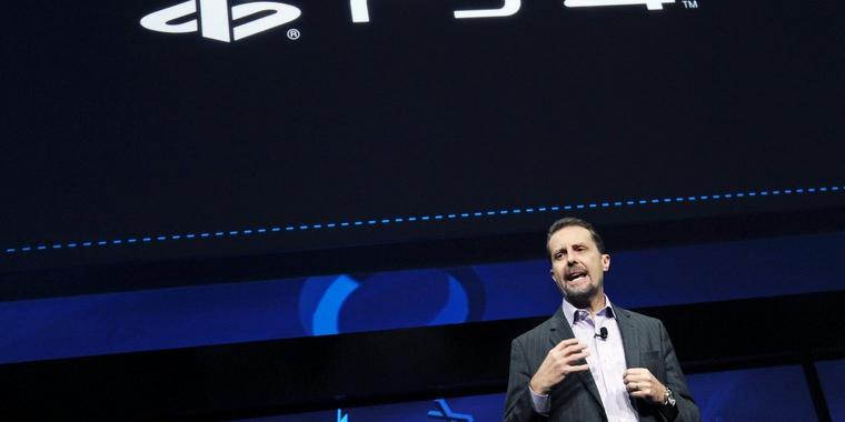 "Sony-Spartenchef Andrew House stellte die ""Playstation 4"" in New York vor."