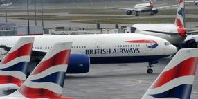 Foto: Flugzeuge von British Airways am Heathrow Airport in London.