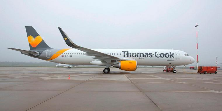 Foto: Ein Airbus der Thomas Cook Airlines UK