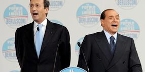 Gianfranco Fini (links) und Silvio Berlusconi