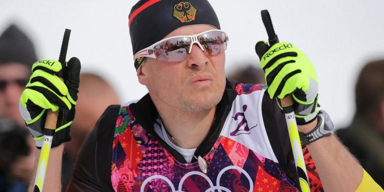 Da war er noch fit: Tobias Angerer am 9. Februar in Sotschi.