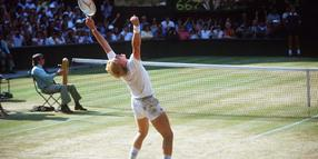 Boris Becker (Deutschland) gewinnt als jüngster Spieler aller Zeiten die All England ChampionshipsBoris Becker Germany wins as recently Players all Times The All England Championships