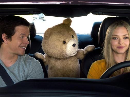 Mark Wahlberg, Ted und Amanda Seyfried sind mal mehr, mal weniger dicke Kumpels. Foto: Universal Pictures