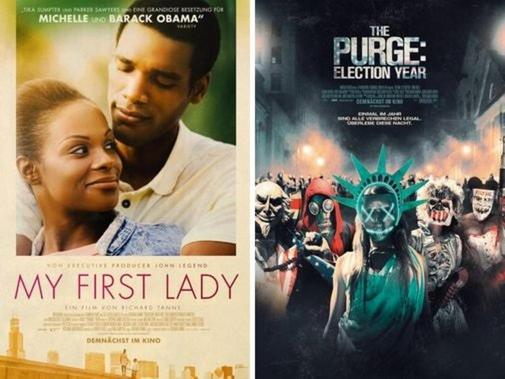 """My First Lady"" und ""The Purge: Election Year"" starten im Kino. (c) Capelight Pictures, Universal Pictures"