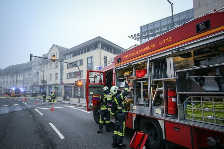 Brand in der Biegenstraße in Marburg am 19.12.19. Foto: Thorsten Richter (thr)
