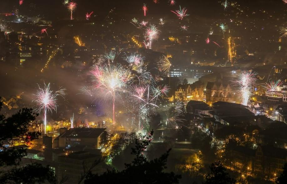 Silvester in Marburg. Foto: Thorsten Richter (thr)
