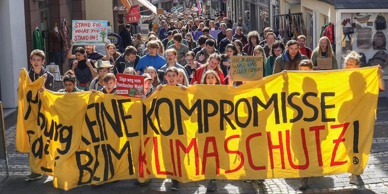 (Archivbild) Klimastreik in Marburg. Foto: Thorsten Richter