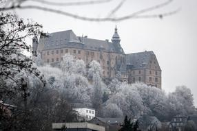 Zauberhafter Eismorgen in Marburg am 6.12.19. Foto: Thorsten Richter (thr)