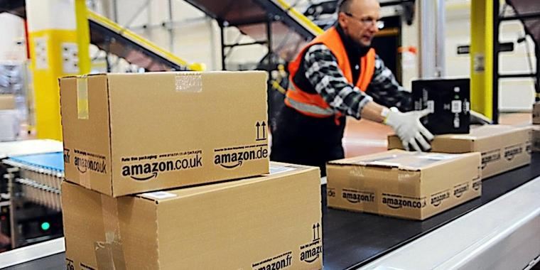 In der Kritik: Das Amazon-Logistik-Zentrum in Bad Hersfeld.