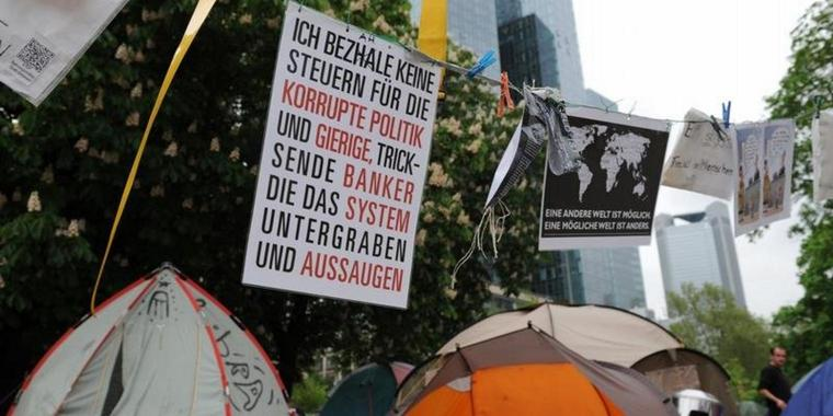 Occupy-Camp in Frankfurt am Main vor Zwangsräumung?