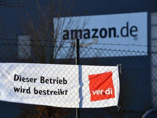 Streik bei Amazon in Bad Hersfeld. Foto:Uwe Zucchi/Archiv