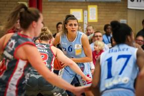 Basketball, Bundesliga Frauen; BC Marburg vs. TSV Wasserburg.Theresa Simon. Foto: Tobias Hirsch
