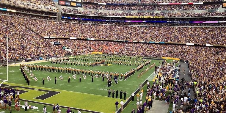 Das Tiger Stadium in Baton Rouge (USA). Foto: Privat