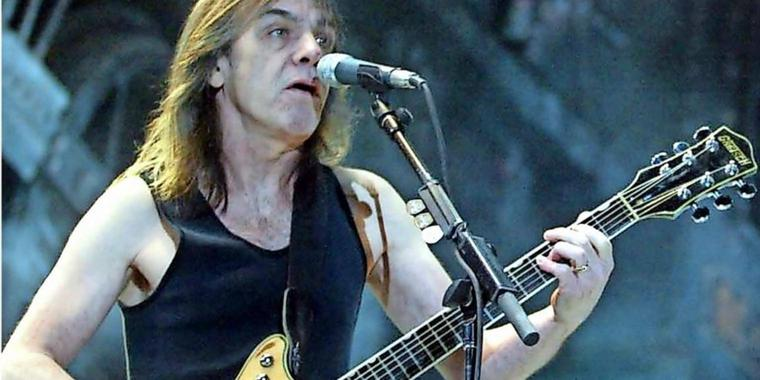 Gitarrist Malcolm Young.
