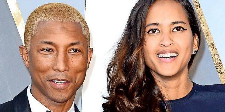 "Dreifach ""happy"": Pharell Williams und seine Frau Helen Lasichanh."
