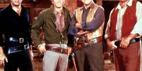 "Bonanza (0) 1: Adam (Pernell Roberts), Little Joe (Michael Landon), """"""Pa"""" Ben (Lorne Greene), Eric """"Hoss"""" Cartwright (Dan"" Blocker). 2: Hinten: Pernell Roberts, Dan Blocker; vorne: Michael Landon, Lorne Greene 3: Dan Blocker, Lorne Greene, Michael Landon 4: Michael Landon, Lorne Greene, Dan Blocker Regie: diverse USA 1959-1972 , NBC 
