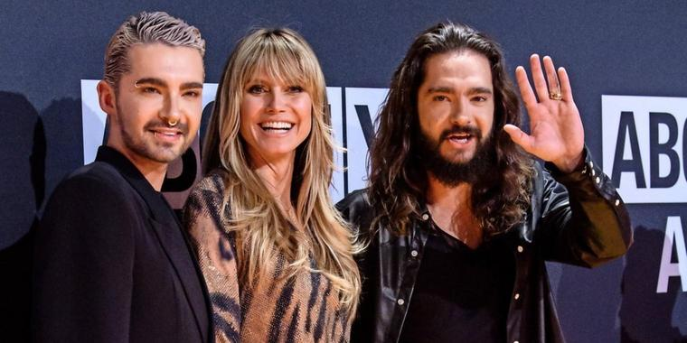 "Bill Kaulitz, Heidi Klum und Tom Kaulitz bei den ""About you""-Awards"
