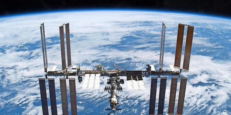 Die Internationale Raumstation (ISS).