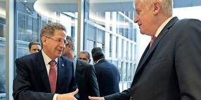 Hans-Georg Maassen und Horst Seehofer Mitte September in Berlin.