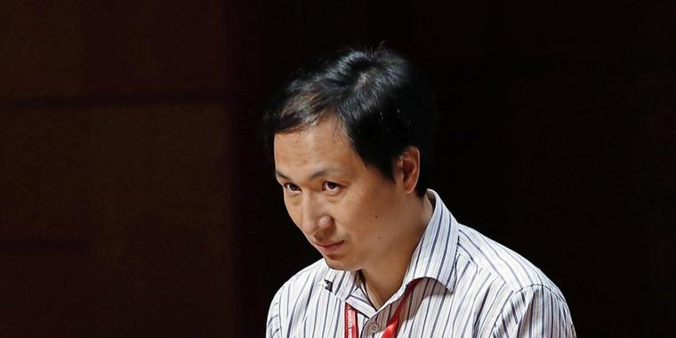 He Jiankui sprach auf der Human Genome Editing Conference in Hongkong.