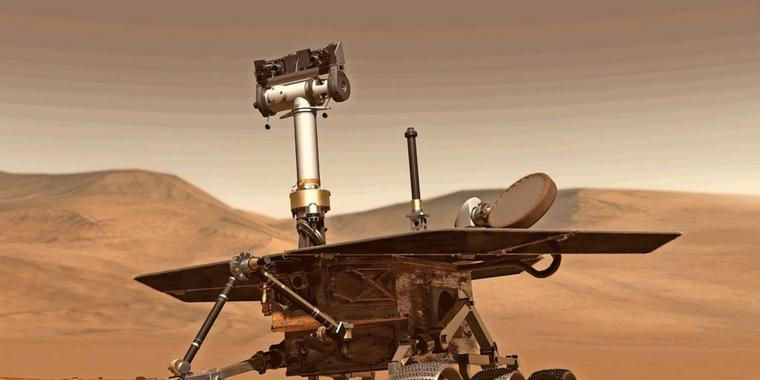 "Der Mars-Rovers ""Opportunity""."