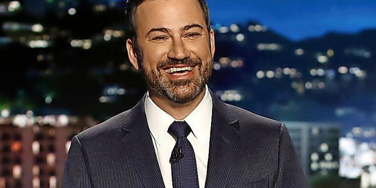 Moderator Jimmy Kimmel in seiner Late-Night-Show.