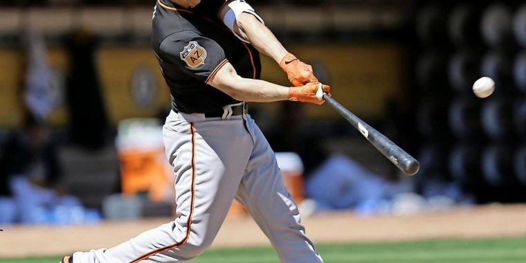 Nick Hundley von den San Francisco Giants.